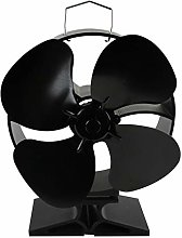Museourstyty 5 Blades Heat Powered Stove Fan Wall