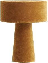 Mushroom desk lamp in mustard velvet