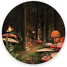 Mushroom Forest 3D Wall Clock Modern Design Living