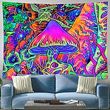 Mushroom rug wall hanging witchcraft tapestry