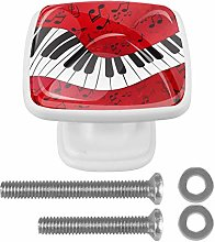 Music Abstract Piano with Scores Drawer Knob for