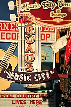 Music City Nashville Country Music Retro Signs