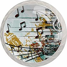 Music Crystal Drawer Cabinet Knobs Knobs for