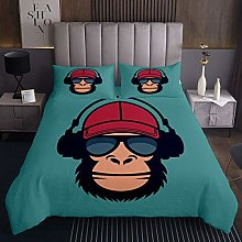 Music Monkey Quilted Bedspread Coverlet Hip Hop