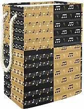 Music Notation laundry bin Oxford cloth rectangle