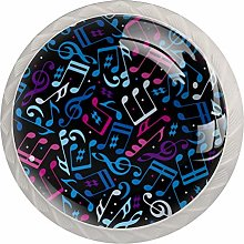 Music Notes Pattern Drawer Knobs Pulls Cabinet