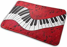 Music Theme Piano Personalised Entrance Door Mat