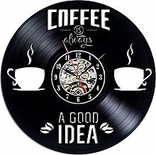 Music Vinyl Record Wall Clock Kitchen Cafe Home