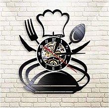 Music Vinyl Record Wall Clock Kitchen Restaurant