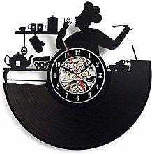 Music Vinyl Record Wall Clock Kitchen Work Home