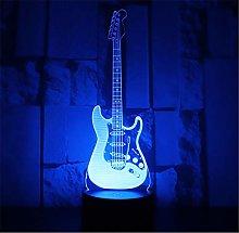 Musical Instrument Guitar 3D Illusion Night Light