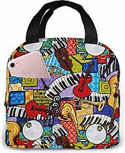 Musical Instruments Lunch Bag Reusable Insulated