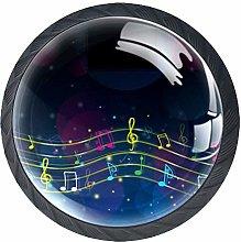 Musical Note Crystal Drawer Handles Furniture