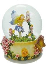 Musicbox World 14191 Glitter Globe Flowers Fairy