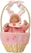 Musicbox World 20255 Baby-Girl in a Basket Playing