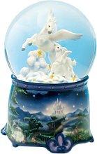 Musicbox World 25175 Glitter Globe Unicorn Playing