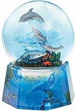 Musicbox World 25215 Dolphin Glitter Globe Playing