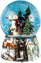 Musicbox World 46069 Snow Globe Snow Man Playing