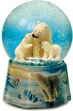 Musicbox World 48086 Snow Globe Polar Bear Playing