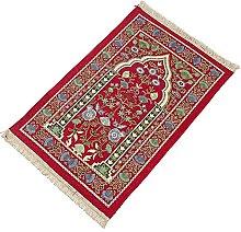 Muslim Prayer Mat Embroidery Flower Pattern Area