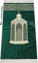 Muslim Prayer Rug with Prayer Beads | Janamaz |