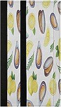 Mussels Herbs Refrigerator Door Handle Covers 2