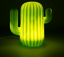 Mustard Cactus LED Light, Green