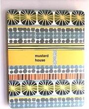 Mustard House - Set of 4 Stripe Sunburst Placemats