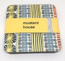 Mustard House - Sunburst Stripe Coasters Set of 4