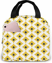 Mustard Yellow Lunch Bag Insulated Lunch Box Soft