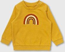 Mustard Yellow Rainbow Sweatshirt - Up to 3 mths