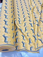 MUSTARD ZEBRA Jacquard Cotton Fabric for Curtains
