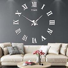 Mute DIY Frameless Large Wall Clock Roman Numerals