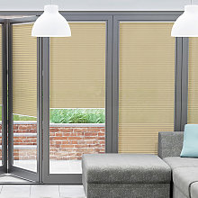 Muted Gold BiFold Door Blind