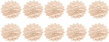 MUXSAM 10Pcs Sunflowered Small Flower Slice 4.5cm
