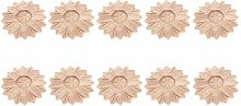 MUXSAM 10Pcs Sunflowered Small Flower Slice 6cm
