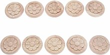 MUXSAM 10Pcs Wood Carved Applique Corner Onlay
