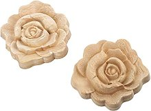 MUXSAM 2pcs 7 * 7cm Wood Carved Corner Onlay