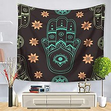 muyichen Tapestry Mandala India Wall Hanging Black