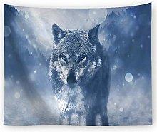 muyichen Tapestry Mandala Wall Hanging Animal Wolf