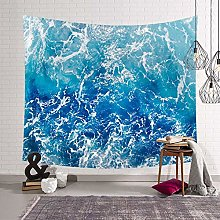 muyichen Tapestry Mandala Wall Hanging Blue Waves