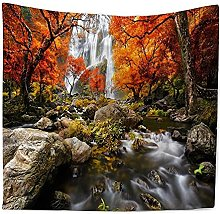 muyichen Tapestry Mandala Wall Hanging Red Forest