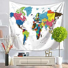 muyichen Tapestry Mandala World Map Wall Hanging