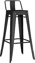 MUZIDP Barstools Iron bar stool, bar chair with