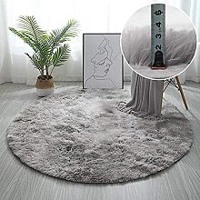 MVNZXL Area Rugs,Soft Velvet Round Area Rug for