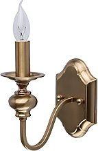 MW-Light 614020801 Classic Wall Light Brass Candle
