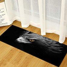 MWMG Hallway Rug,Non-Slip Area Carpet Black Eagle