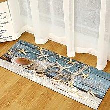 MWMG Hallway Rug,Non-Slip Area Carpet Starfish