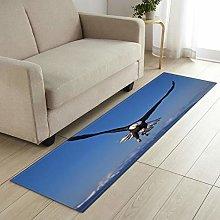 MWMG Runner Rug,Non-Slip Area Carpet Blue Sky