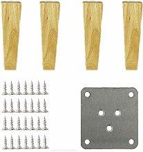 MWPO Oak Furniture Feet,Solid Wood Sofa Legs,TV